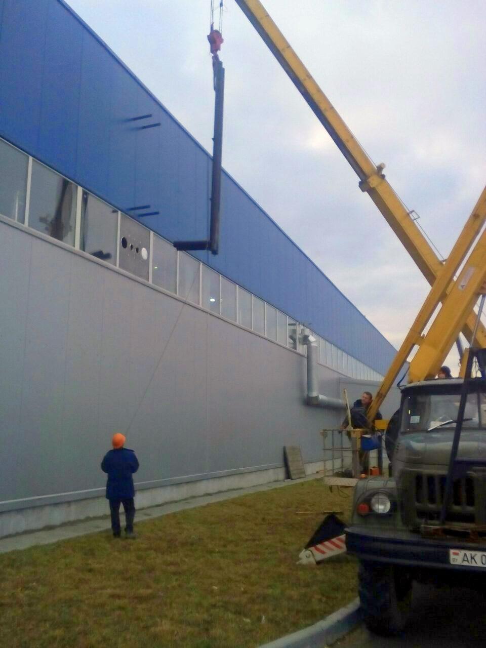 Монтаж дымоходов для предприятия «БЕЛС» в г. Бресте - фото