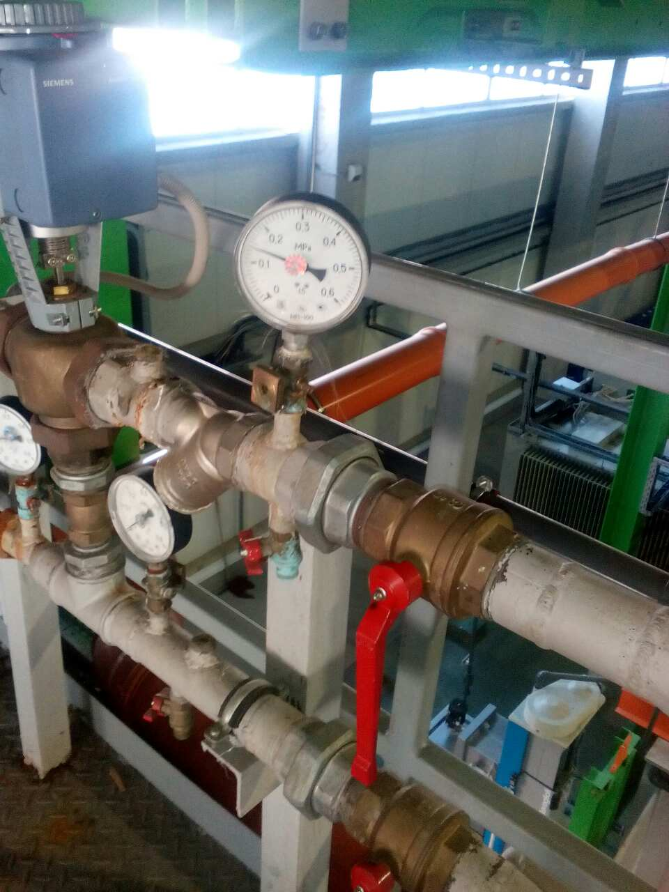 Тепловой узел для вентиляционной установки - фото